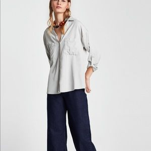 Zara EUC! snap button down shirt worn once